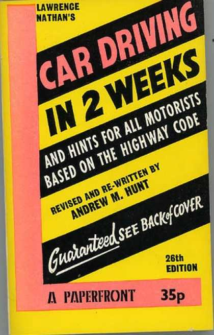 Greatest Book Covers - Car Driving In 2 Weeks