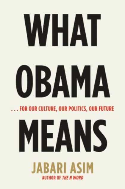Greatest Book Covers - What Obama Means