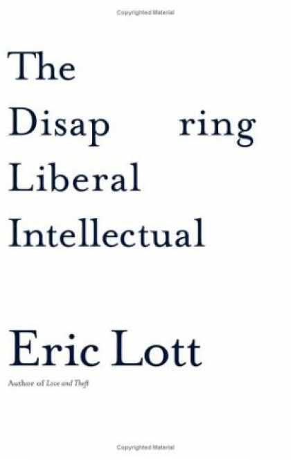 Greatest Book Covers - The Disappearing Liberal Intellectual