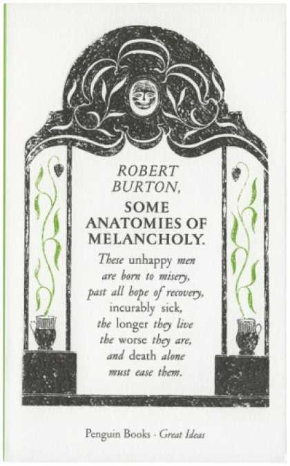 Greatest Book Covers - Some Anatomies of Melancholy