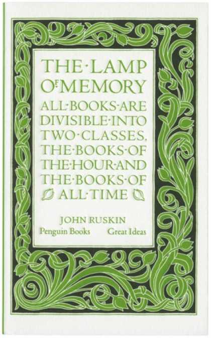 Greatest Book Covers - The Lamp of Memory