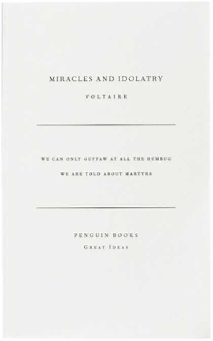 Greatest Book Covers - Miracles and Idolatry