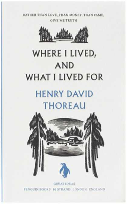 Greatest Book Covers - Where I Lived, and What I Lived For