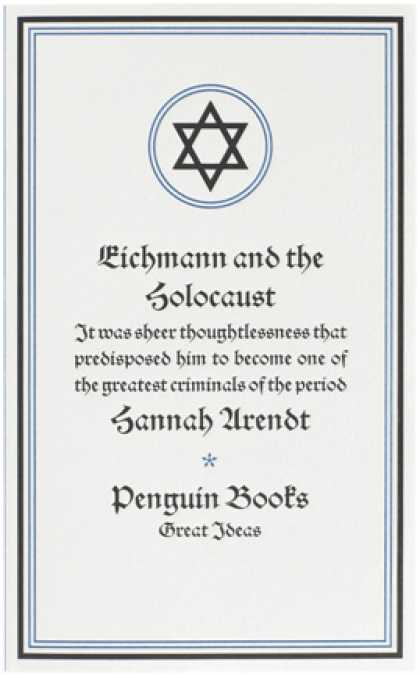 Greatest Book Covers - Eichmann and the Holocaust