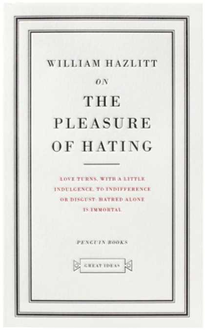 Greatest Book Covers - On the Pleasure of Hating