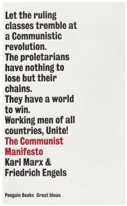 Greatest Book Covers - Communist Manifesto