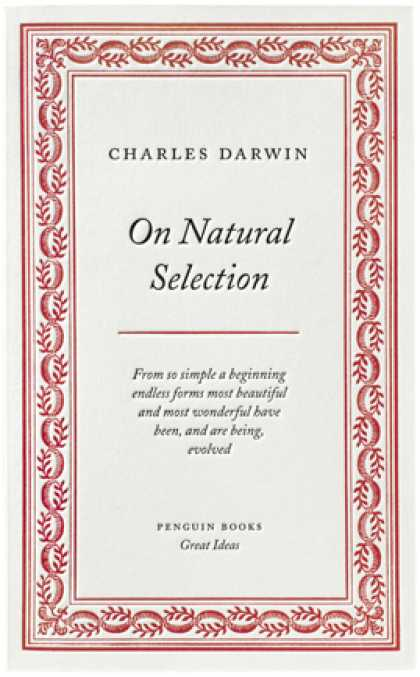 Greatest Book Covers - On Natural Selection