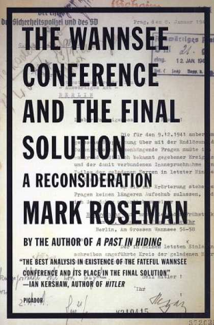 Greatest Book Covers - The Wannsee Conference and the Final Solution