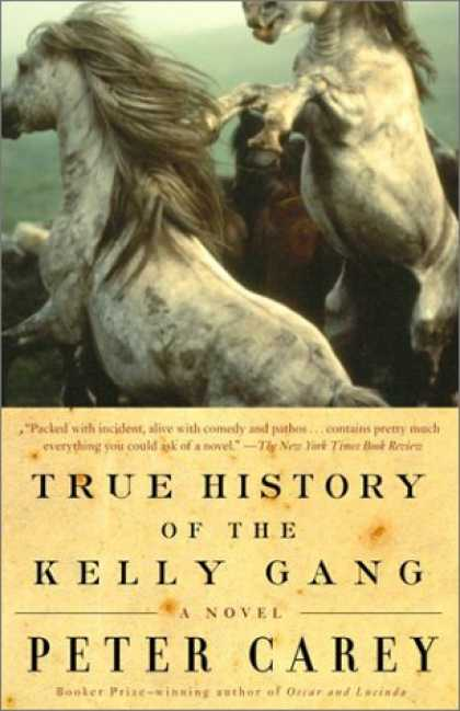 Greatest Book Covers - True History of the Kelly Gang: