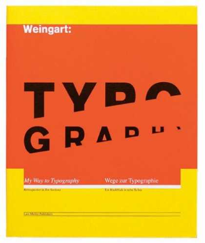 Greatest Book Covers - Wolfgang Weingart