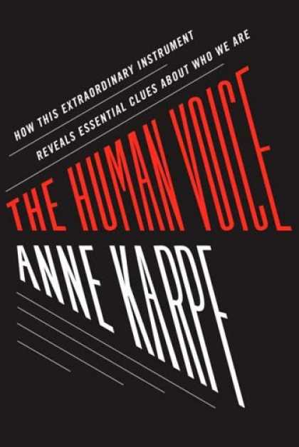 Greatest Book Covers - The Human Voice