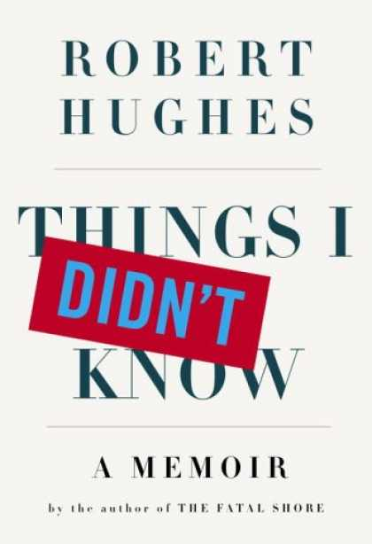 Greatest Book Covers - Things I Didn't Know: A Memoir