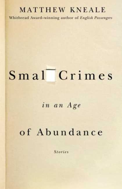 Greatest Book Covers - Small Crimes in an Age of Abundance