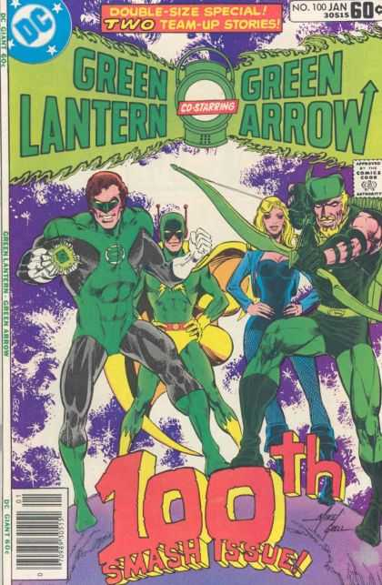 Green Lantern (1960) 100 - Ring - Bow - Arrow - Black Canary - 100th - Mike Grell