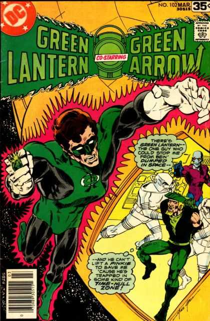 Green Lantern (1960) 102 - Dc - March - Green Arrow - Superhero - Thought Bubble - Mike Grell