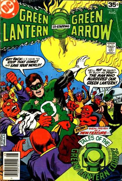 Green Lantern (1960) 107 - Comet - Corps - Aliens - Dc - August - Joe Staton