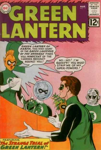 Green Lantern (1960) 11 - Superman - Superhero - Approved By The Comics Code - Alien - Featuring