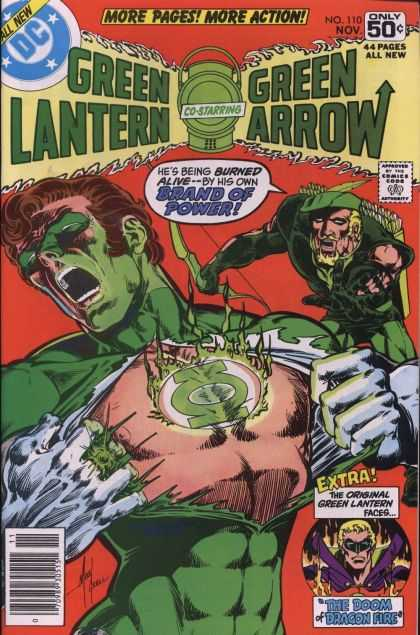 Green Lantern (1960) 110 - Dc Comics - Green Arrow - More Pages More Action - November - The Doom Of Dragon Fire - Mike Grell