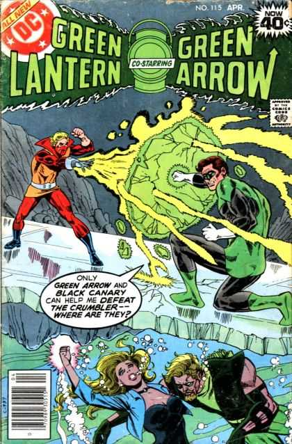Green Lantern (1960) 115 - Co-starring - Green Arrow - Superhero - All New - Woman - Dick Giordano