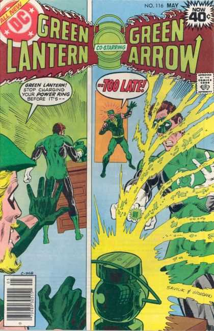 Green Lantern (1960) 116 - Dc Comics - No 116 May - Green Arrow - Power Ring - Desk - Dick Giordano