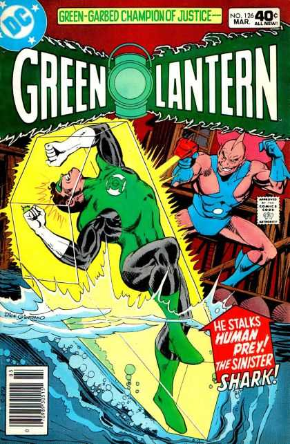Green Lantern (1960) 126 - Dc - Garbed - Champion - Justic - Shark - Dick Giordano