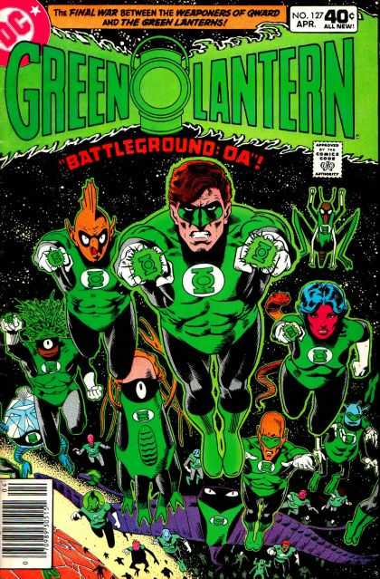 Green Lantern (1960) 127 - Superman - Mask - Army - Dress - Woman Face - Brian Bolland