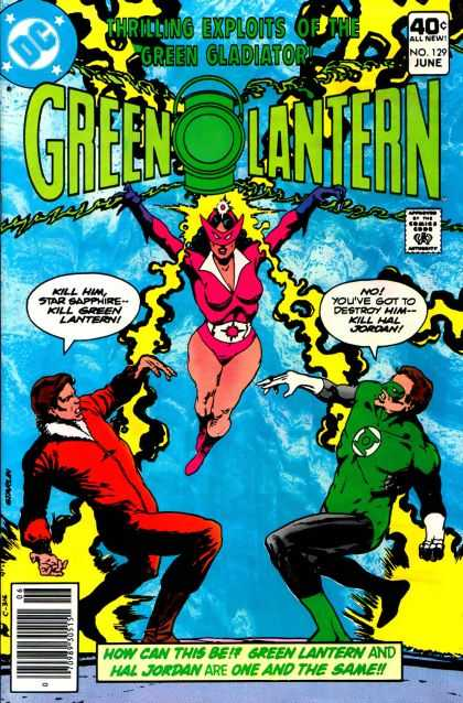 Green Lantern (1960) 129 - Green Gladiator - No Youve Got Yo Destroy Him - Kill Hal Jordan - Star Sapphire - One And The Same - Hal Jordan - Jim Starlin