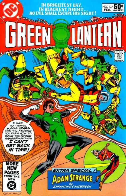 Green Lantern (1960) 137 - Forcefield - Green - Astronaut - Monsters - Lizardmen - Dick Giordano