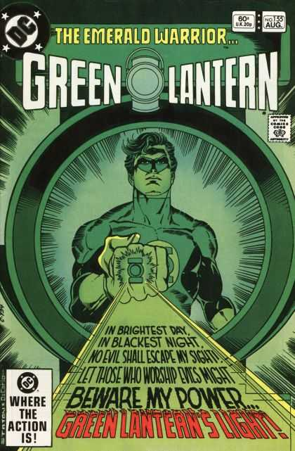 Green Lantern (1960) 155 - The Emereld Warrior - Beware My Power - Ring - Approved By Comics Code - Where The Action Is - Joe Staton