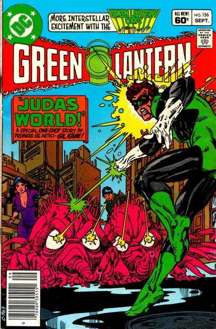 Green Lantern (1960) 156 - September Issue - Pink Multi Legged Monsters Or Aliens - Snouts - Mind Control Or Lazers Coming Out Of Alien Eyes - Cleaveage