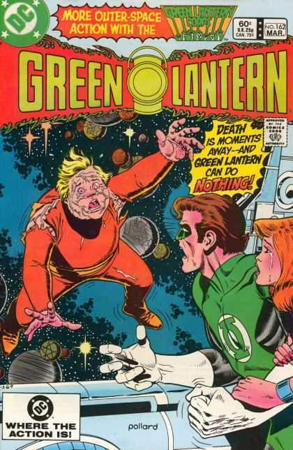 Green Lantern (1960) 162 - Death - Implosion - Space Drowning - Drifting - Crying