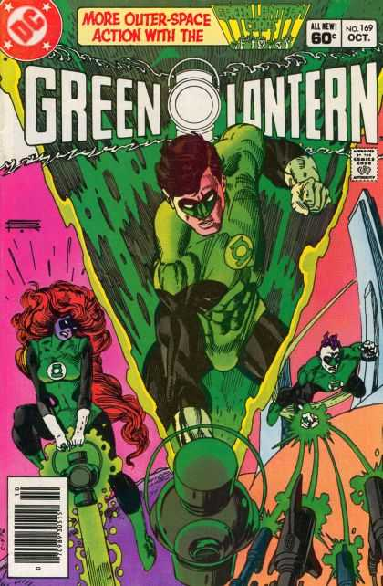 Green Lantern (1960) 169 - Outer Space Action - Dc Comics - No 169 - Red Hair - Super Heroes