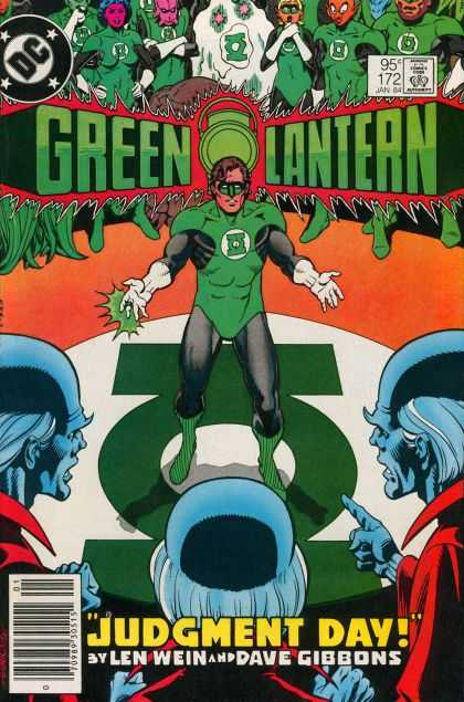 Green Lantern (1960) 172 - Ringfight - Clones - Clanes - Empire Verdict - Opposite Red - Dave Gibbons