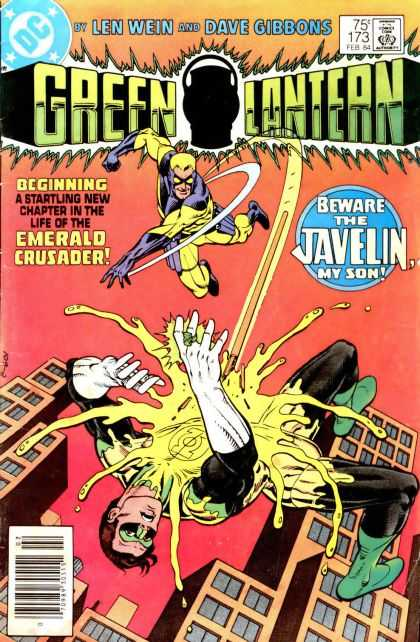 Green Lantern (1960) 173 - Acid - Flying - Falling - Towers - Yellow Eyes - Dave Gibbons