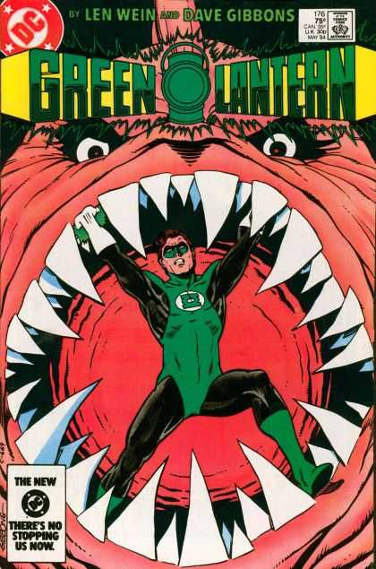 Green Lantern (1960) 176 - Mouth - Teeth - Scary Eyes - Spandex - Green Facemask - Dave Gibbons