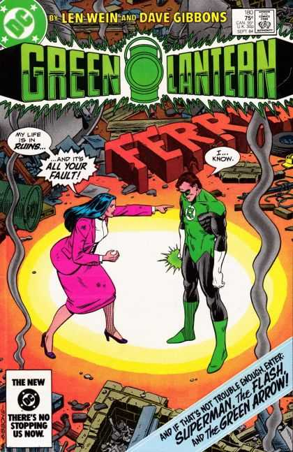 Green Lantern (1960) 180 - Len Wein - Superman - The Flash - Green Arrow - Dave Gibbons - Dave Gibbons