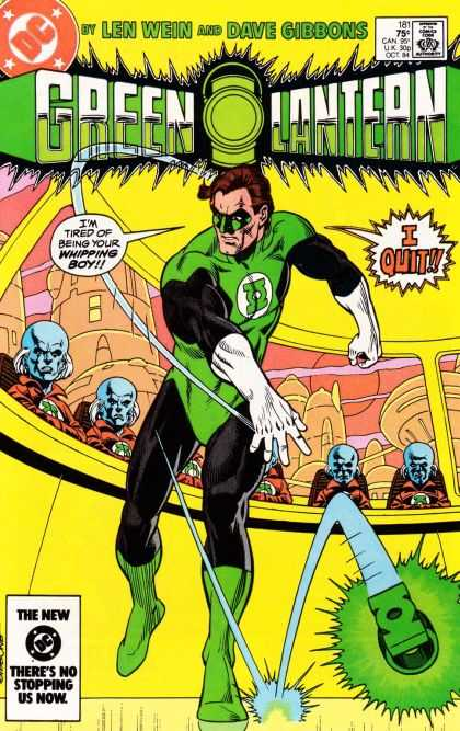 Green Lantern (1960) 181 - Len Wein - Dave Gibbons - Dc Comics - Whipping Boy - Quit - Dave Gibbons