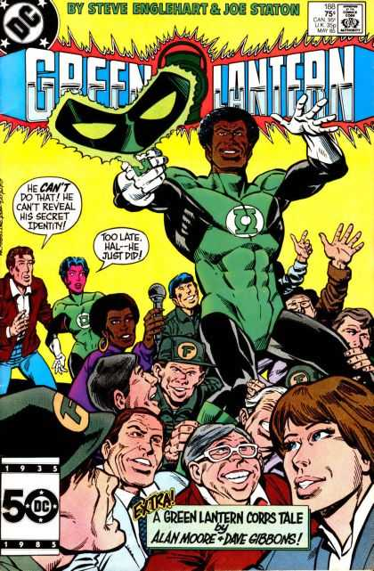 Green Lantern (1960) 188 - Dc - Approved By The Comics Code Authority - Mask - Alan Moore - Spectacle - Joe Staton