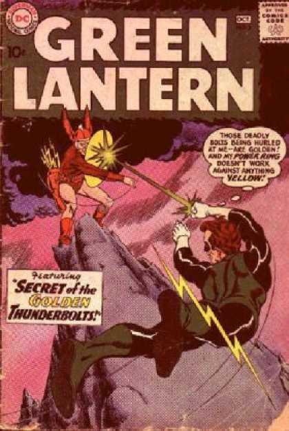 Green Lantern (1960) 2 - Green Lantern - Secret Of The Golden - Thunderbolt - Action - Power - Murphy Anderson