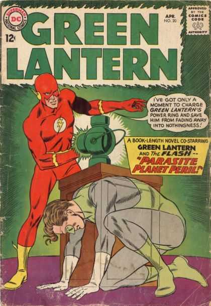 Green Lantern (1960) 20 - Flash - Power Ring - Superheroes - Crossover - Parasite