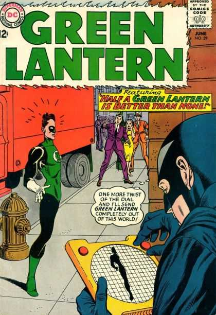 Green Lantern (1960) 29 - Half A Green Lantern Is Better Than None - Fire Hydrant - Green Lantern Is Disappearing - Sidewalk - Dial