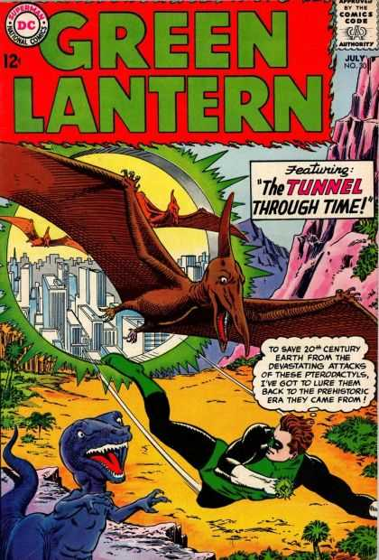 Green Lantern (1960) 30 - Dinosaurs - City - Tunnel - Time - Green Lantern