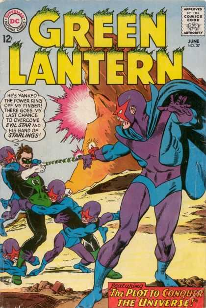 Green Lantern (1960) 37 - The Plot To Conquer The Universe - June - Evil Tar - Power Ring - Starlings