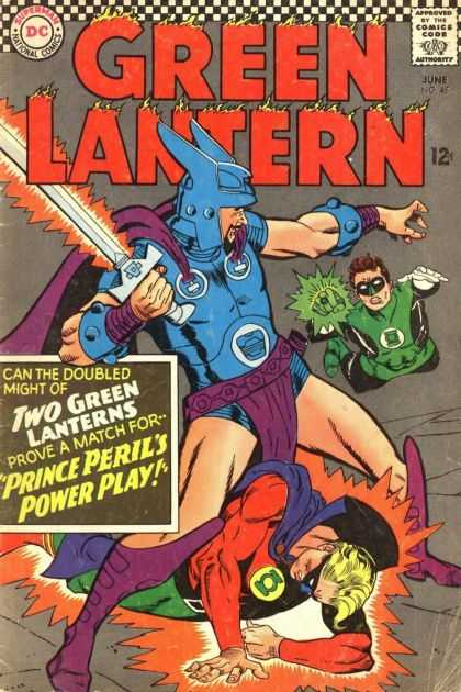 Green Lantern (1960) 45 - The Power Of The Sword - The Deafeat Of The Laterns - The Man In The Blue - The Man With The Sword - History