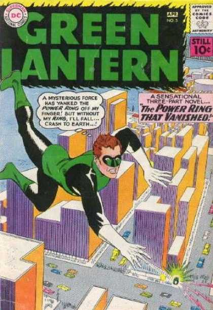 Green Lantern (1960) 5 - Dc Comics Codea - Still 10c - A Sensational Three-part Novel - The Power Ring That Vanished - Aprno5