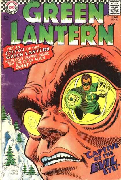 Green Lantern (1960) 53 - Eyeful - Alien Giant - Captive Of The Evil Eye - Helplessly Trapped - Snow - Carmine Infantino