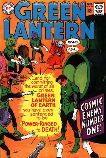 Green Lantern (1960) 55 - Cosmic Energy Number One - Committing Crimes - Sentenced - Power-ringed - Death