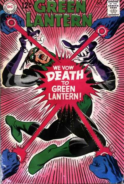 Green Lantern (1960) 64 - Approved By The Comics Code Authority - Dc - Superman - National Comics - Death