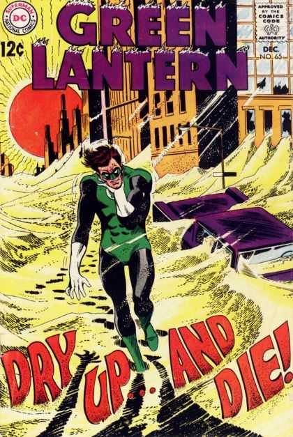 Green Lantern (1960) 65 - Dc - Dry Up And Die - Sun - Superhero - December