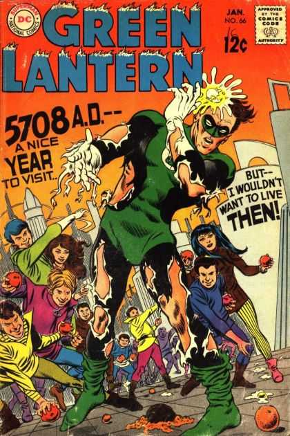 Green Lantern (1960) 66 - Dc - Jan No 66 - 12c - 5708 Ad - A Nice Year To Visit